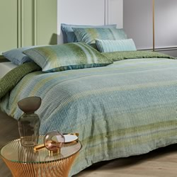 Tabby Green Quilt Cover Set