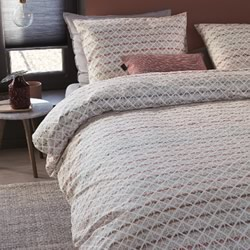 Woven Lines Pink Quilt Cover Set