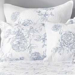 Elaine Blue European Pillowsham