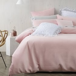 Elin Dusty Pink Quilt Cover Set