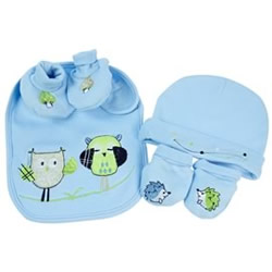 Baby Owl Boy Layette Set