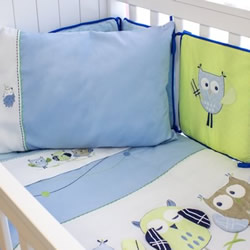 Baby Owl Boy Nursery Set
