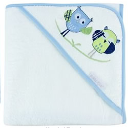 Baby Owl Boy Hooded Towel
