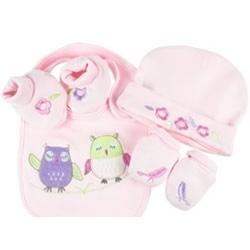 Baby Owl Girl Layette Set