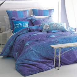 Save The Dolphins Quilt Cover Set
