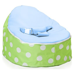Green Polka Dot Blue Snuggle Pod