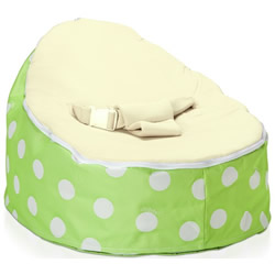 Green Polka Dot Cream Snuggle Pod