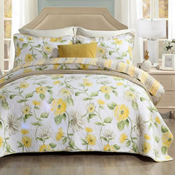 Corinella Lemon Coverlet Set