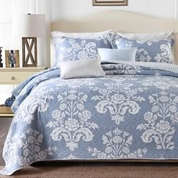 Corinthian Blue Coverlet Set