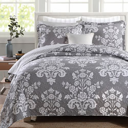 Corinthian Grey Coverlet Set