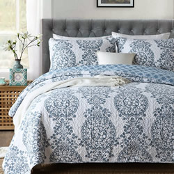 Kavala Blue Coverlet Set