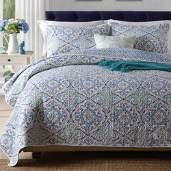 Marmaris Ice Coverlet Set