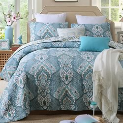 Marrakesh Teal Coverlet Set