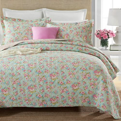 Vintage Rose Coverlet Set