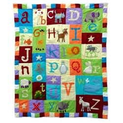 Animal Cracker Cot Quilt