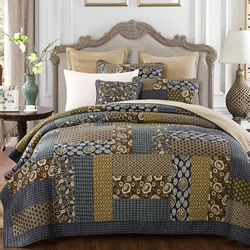 Country Blue Bedspread Set