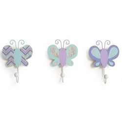 Lavender Butterflies Clothes Pegs