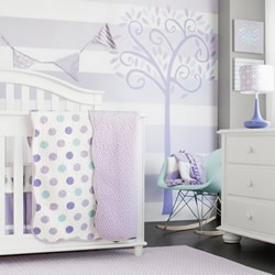 Lavender And Blue Coverlets