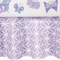 Lavender Lattice Cot Valance
