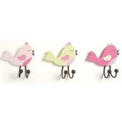 Pink Birds Clothes Pegs