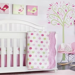 Pink And Green Coverlets