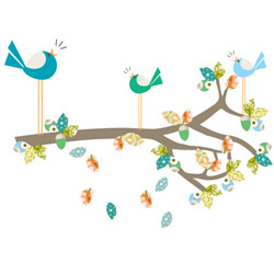 Enchanted Dark Blue Branch Stickers