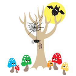 Spooky Forest Wall Stickers