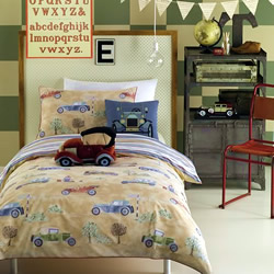 Vintage Cars Quilt Cover Set