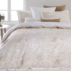 Mecca Natural Quilt Cover Set