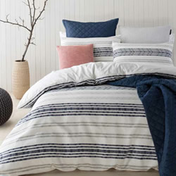 Sass Navy Quilt Cover Set