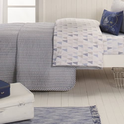 Cameron Blue Cot Coverlet