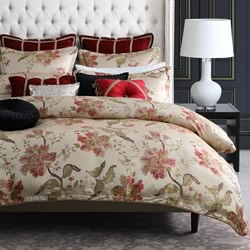 Ayme Red Quilt Cover Set