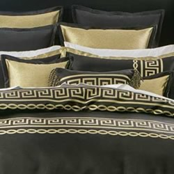 Athena Black European Pillowcase
