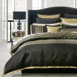 Athena Black Quilt Cover Set