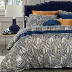 Beckitt Navy Quilt Cover Set