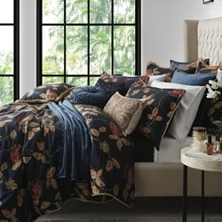 Bordeaux Navy Quilt Cover Set