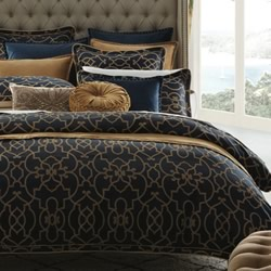 Istanbul Navy Quilt Cover Set