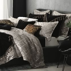 Mancini Smoke Quilt Cover Set
