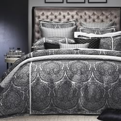 Medici Black Quilt Cover Set