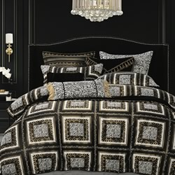 Piazza Gold Quilt Cover Set
