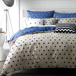Arin Blue Quilt Cover Set