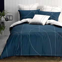 Court Navy Quilt Cover Set