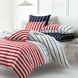 Damien Navy/Red Quilt Cover Set