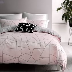 Fraction Pink Quilt Cover Set
