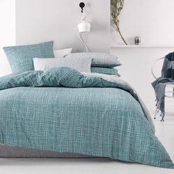 Meiko Teal Quilt Cover Set