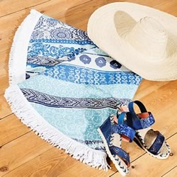 Exotic Jeans Round Towel