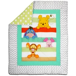 Pooh A is For Apple Cot Quilt