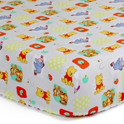 Pooh A is For Apple Cot Sheet