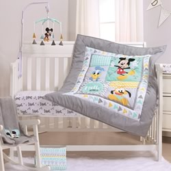 Geo Mickey Cot Quilt