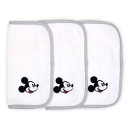 Disney Mod Mickey 3 Pk Wash Cloths